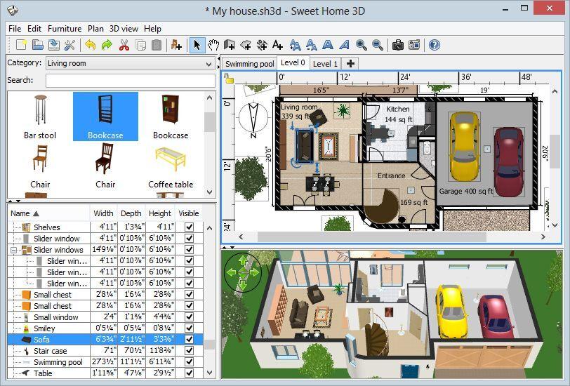 Sweet Home 3d Home Interior Design Cad Software Suite Windows Mac Dvd 755756221024 Ebay