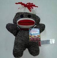 Sock Monkey Baby 7.5 Inches Stuffed Animal Lovey Plush NEW BSMB
