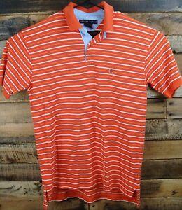 32421b2f Tommy Hilfiger Men's Large Orange/White Golf Polo Short Sleeve Shirt ...