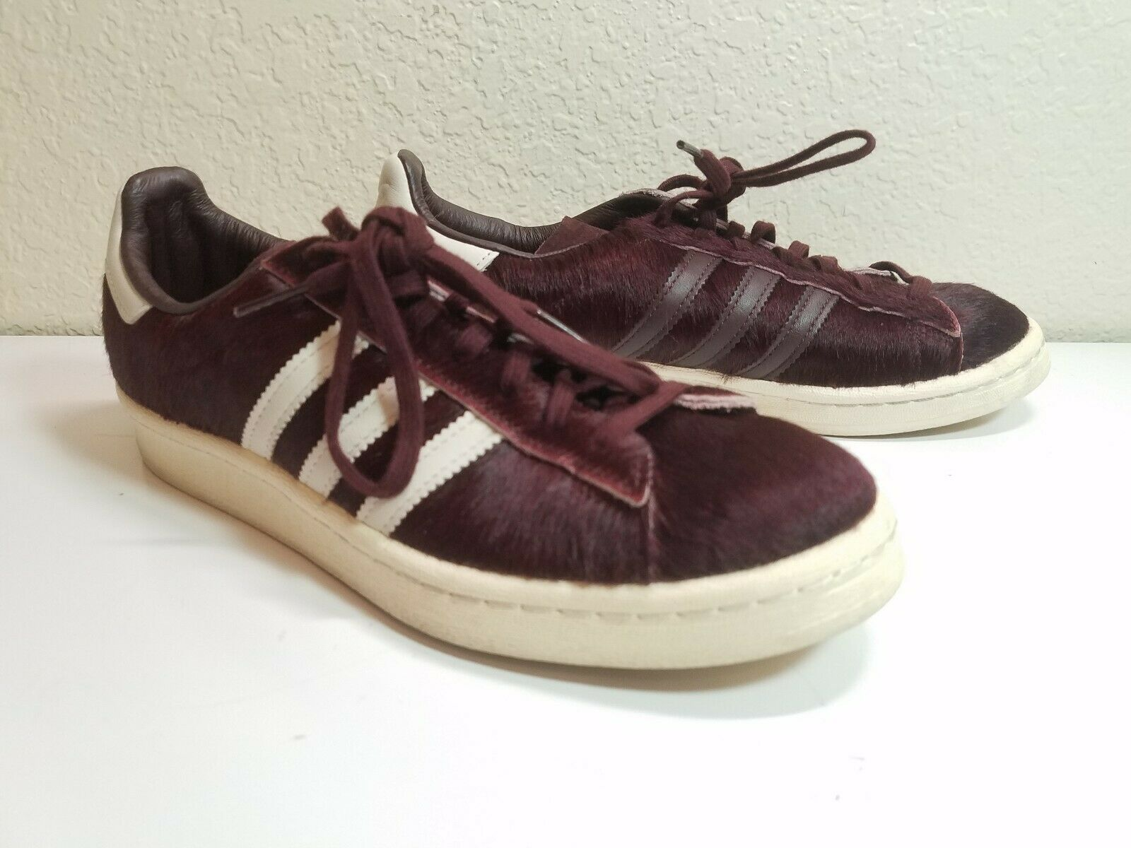 RARE ADIDAS SUPERSTAR SHOES Mens 5.5 Womans 7.5 LEATHER & FUR SNEAKERS