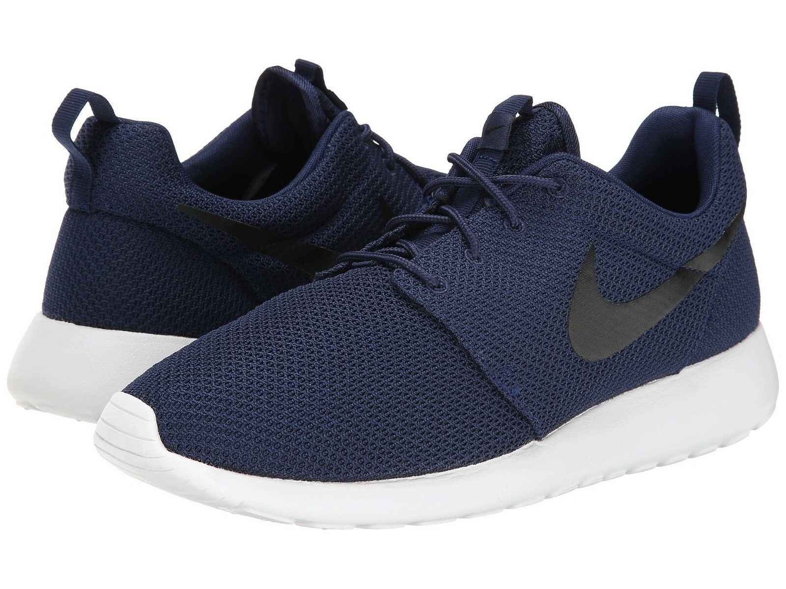 Men's Nike Roshe One Lifestyle shoes Midnight Navy Wht-Blk NIB 8-12 511881-405