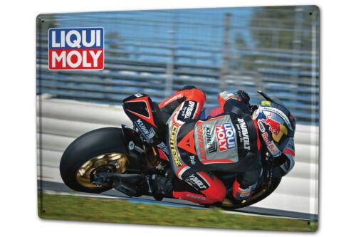 Plaque émaillée XXL Ale Divertissement Liqui Moly Course de motos