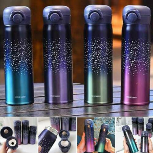 500ml Stainless Steel Vacuum Hot Flask Mug Thermos Insulated Sport Bottle Travel