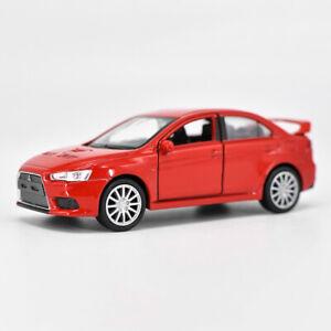 1-36-Mitsubishi-Lancer-Evolution-X-Die-Cast-Modellauto-Spielzeug-Sammlung-Rot
