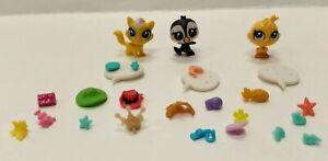 Littlest-Pet-Shop-Lot-Of-3-Mini-Figure-LPS-Authentic-great-shape-Rare