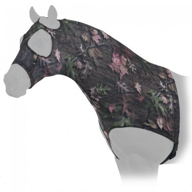 Tough Timber CAMO Horse mostrare uomoe Stay Lycra Sleazy Hood Full Zipper Belly Wrap