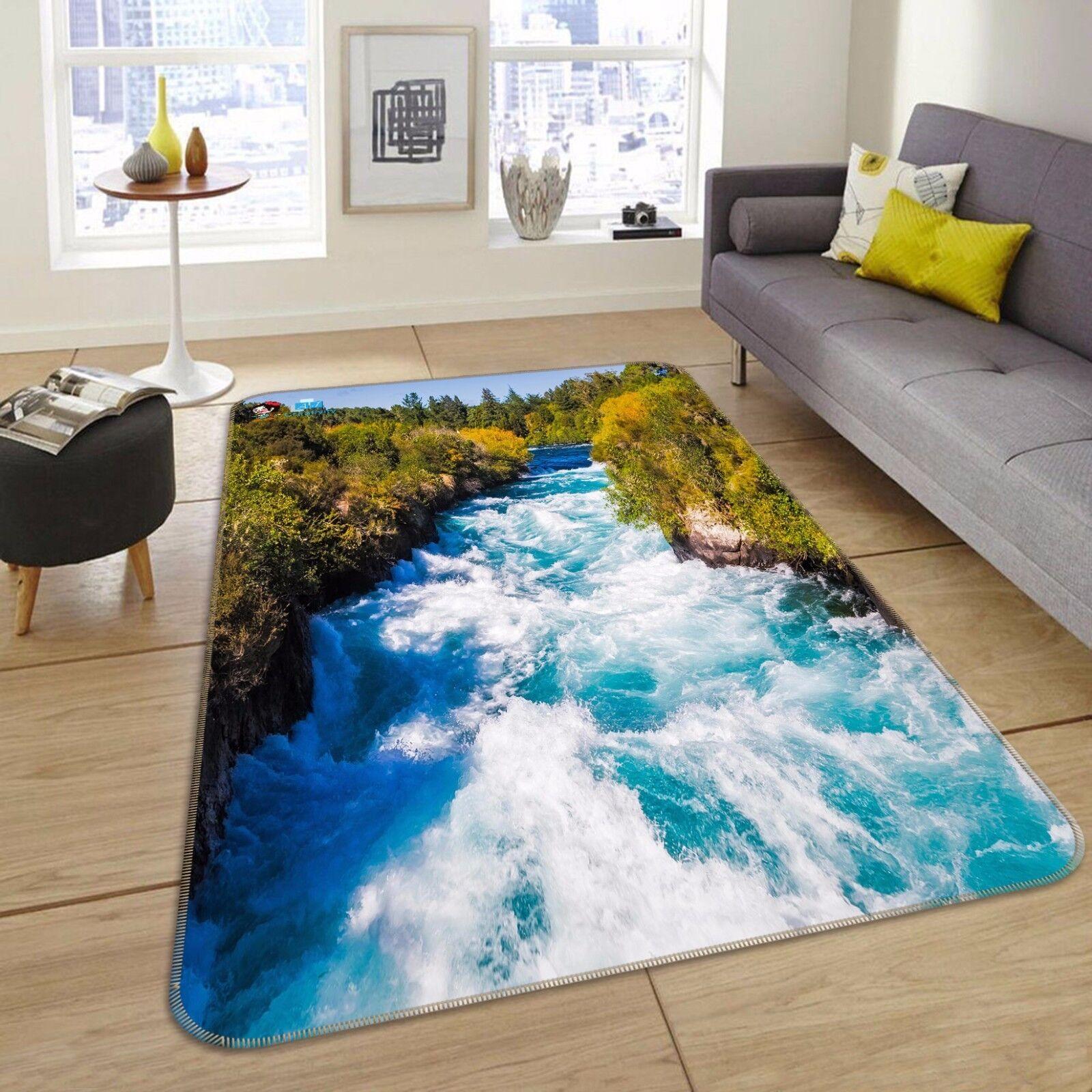 3D Forest River 434 tappetino antiscivolo tappeto camera Tappetino Qualità Elegante foto Tappeto UK