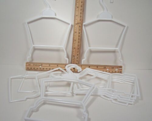 12 LARGE Doll Clothes Hangers 1 Dozen FOR American Girl Debs