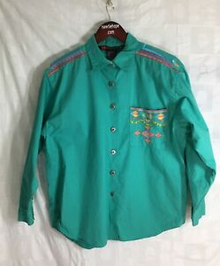 Shirt-16W-Green-Southwest-Embroidery-IB-Diffusion-Long-Sleeve-Button-Down