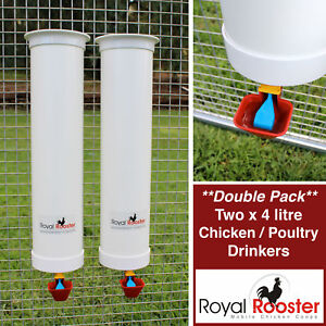 ROYAL ROOSTER Chicken / Poultry Coop - Two Waterers / Drinkers