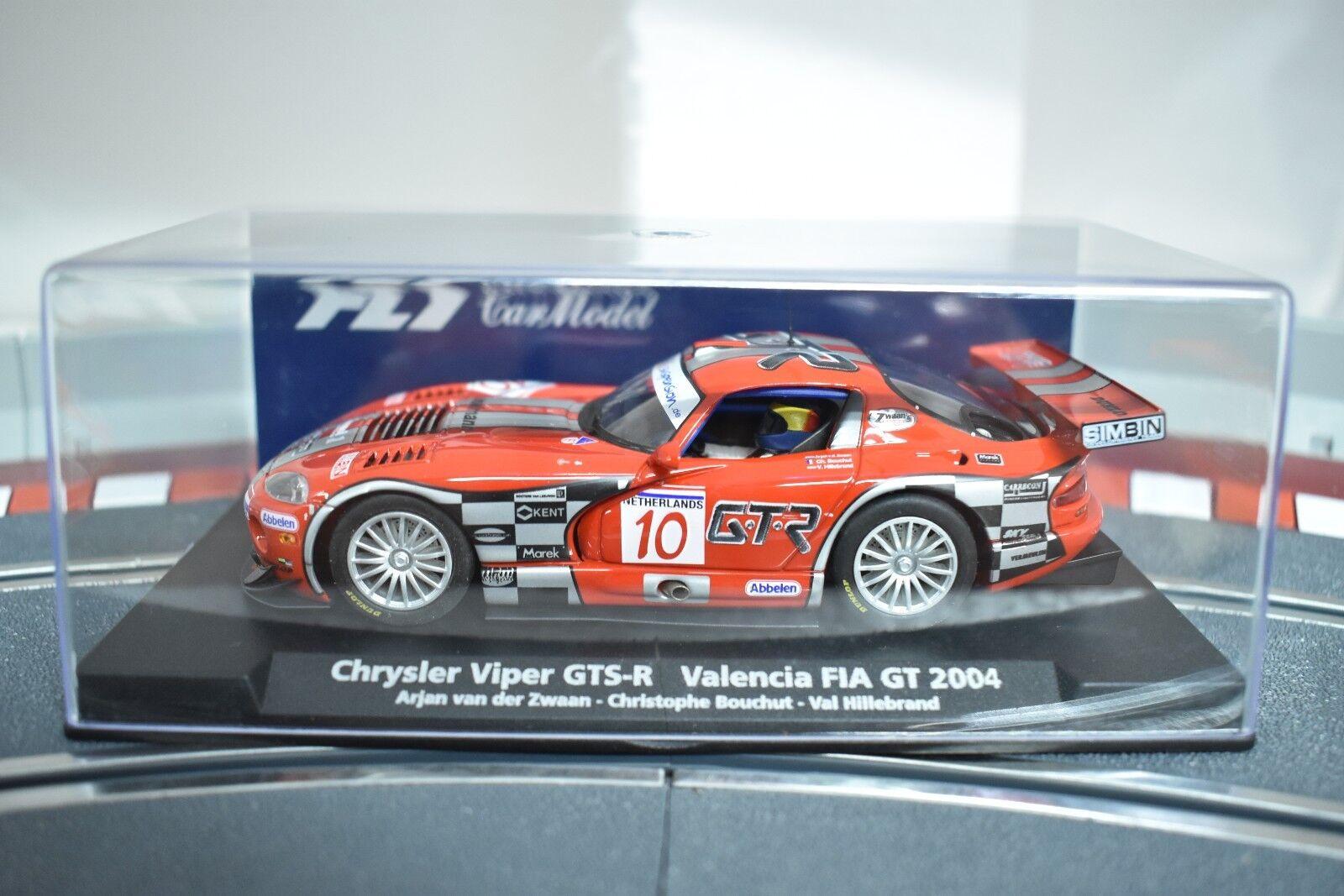 88109 FLY CAR MODEL 1 32 SLOT CAR CHRYLER VIPER GTS-R VALENCIA FIA GT 2004