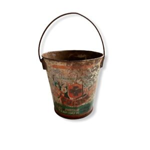 Antique-Tiny-French-Pail-Suisse-Furniture-Wax-French-Miniature-Bucket-Adv