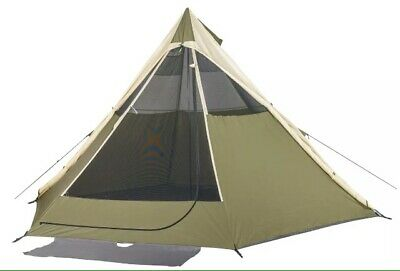 TENT TEEPEE TiPi CAMPING WATERPROOF For UpTo 8 Person Khaki Outdoor | eBay