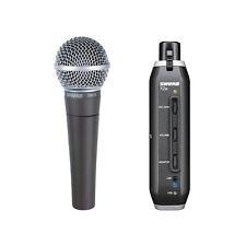 Shure SM58-X2U Cardioid Dynamic Microphone w/  X2U XLR-to-USB Signal Adapter