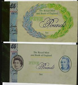 1996 UNC 5 Coin and Note Set C119  First Commemorative Special Cypher HM70 - <span itemprop=availableAtOrFrom>basildon, Essex, United Kingdom</span> - 1996 UNC 5 Coin and Note Set C119  First Commemorative Special Cypher HM70 - basildon, Essex, United Kingdom