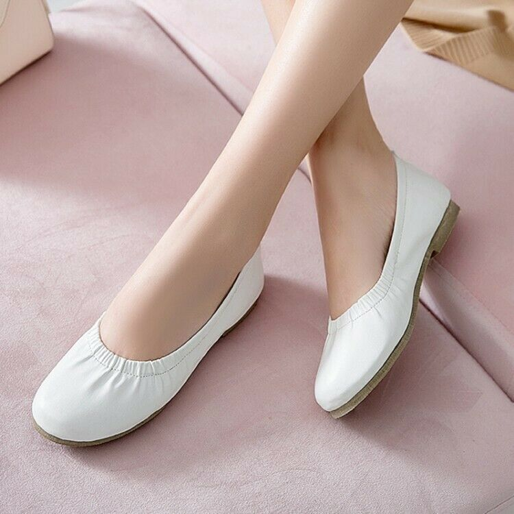 Spring New Ladies Flats Pumps Slip on Casual Comfort Dress shoes UK Size New