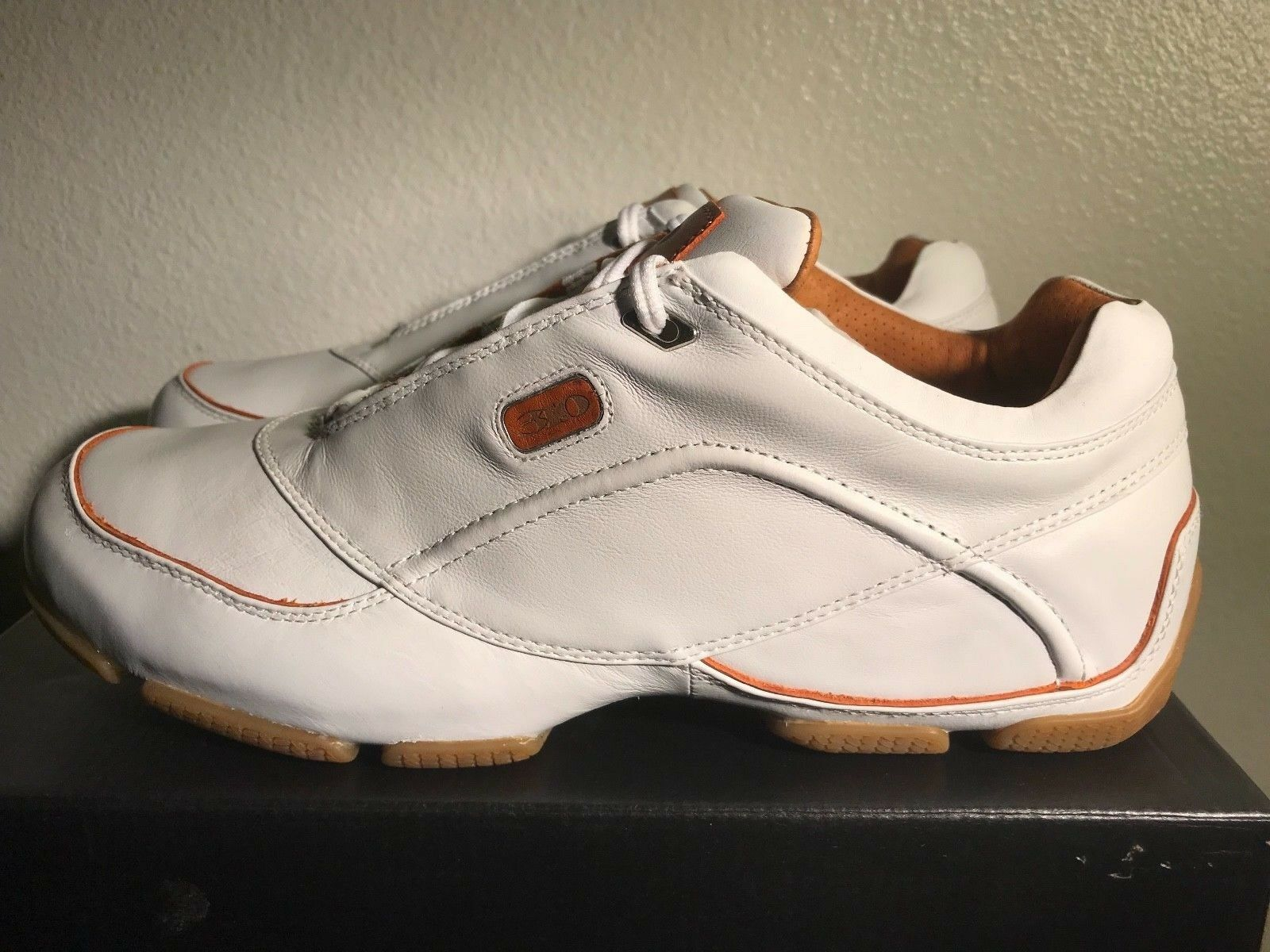 310 MOTORING URRACO 31086 White Tan Light Brown Uomo Size 11 11.5 Authentic DS