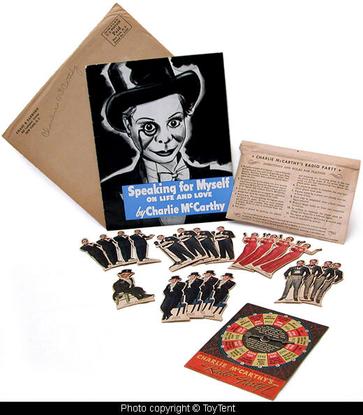 Charlie McCarthy Radio Party game Chase & Sanborn 1938 advertising premiums