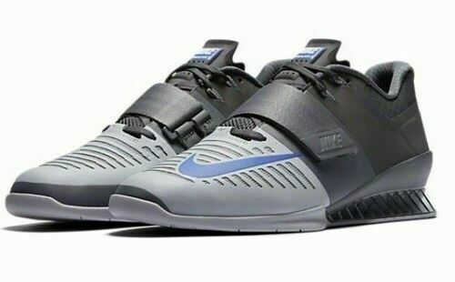 599a7a01522bc ... NEW Nike Sz 15 Romaleos 3 Weightlifting Training shoes shoes shoes Grey  bluee 852933-001 ...