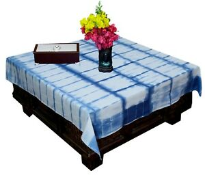 Shibori Tie Dye Table Cloth Indigo