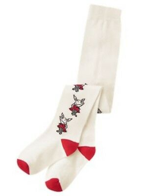 Gymboree Girl/'s Ivory Olivia the Pig Tights Infant Girl Size 12-24 Months NEW