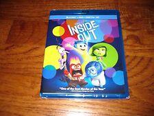 INSIDE OUT: Disney PIXAR) Blu-Ray/DVD+Digital HD) New; Sealed +I Ship Faster
