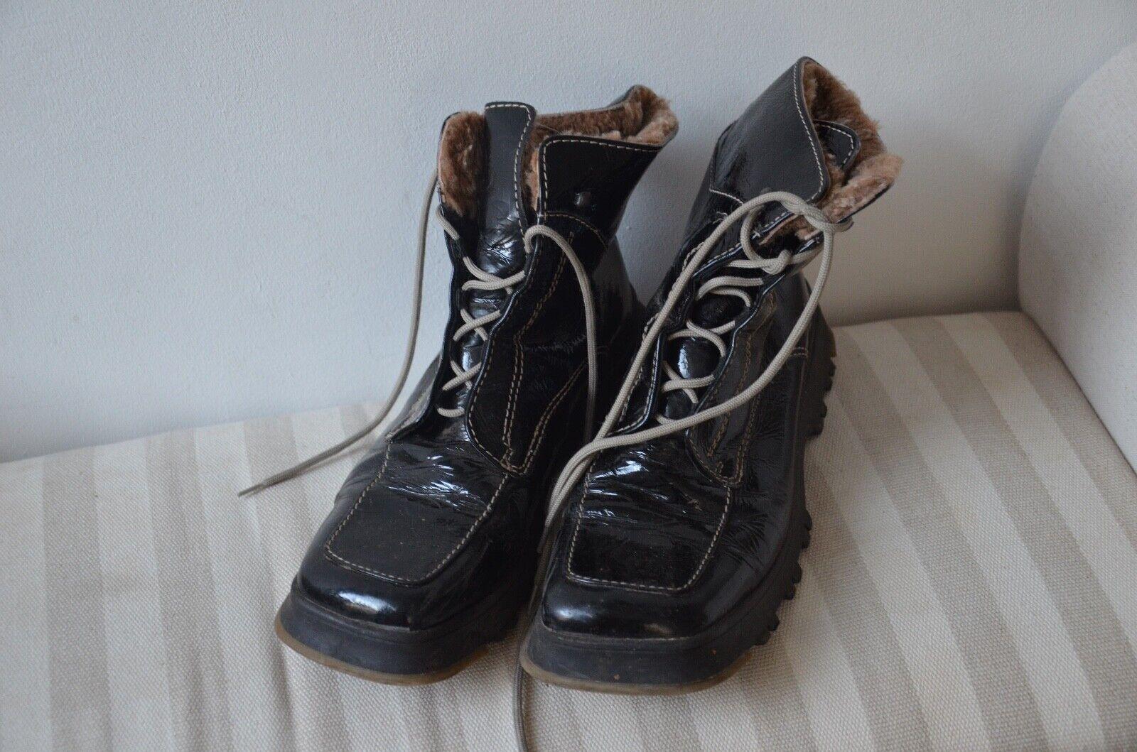 2018 Damen Schuhe Stiefel Stiefeletten Pumps Ankel Boots Schwarz weiß Gr:34-47