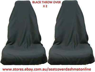 2 BLUE NOS THROW OVER,SEAT COVER,SLIP ON FIT TOYOTA CAMRY,COROLLA,CELICA,