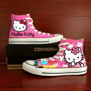eef07c8b77295d CONVERSE Chuck Taylor All Star HELLO KITTY hand painted shoes ...