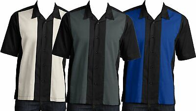 Mens Button Down Camp Shirt Big /& Tall Retro Bowling Tan Wrinkle Resistant 2XL