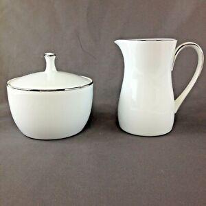 Vintage Noritake China 6127 Fremont Japan Creamer and Covered Sugar Bowl Set
