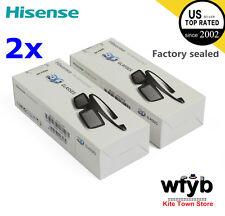 2X Brand New Hisense 3D Active Shutter Glasses FPS3D08 For 2014 TV K390PAD