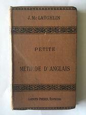 PETITE METHODE D'ANGLAIS 1903 LAUGHLIN PRATIQUE FACILE