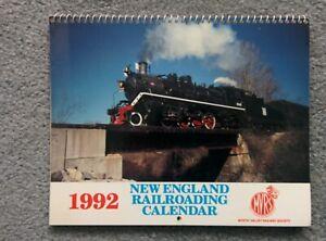 New England Railroading CALENDAR 1992 Photos for Hobby Reference Craft Frame etc
