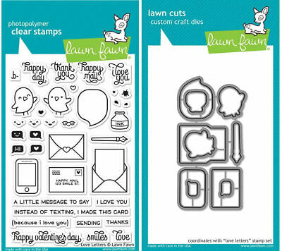 Lawn Fawn Dies Set Love you a Latte Clear rubber stamps for card making supplies scrapbooking supplies craft  supplies