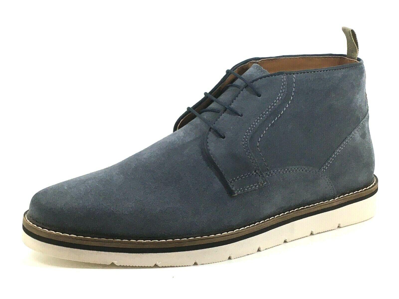 Find. Mens Gents UK 10 EU 44 Light Blue Suede Lace Up Desert Chukka Ankle Boots