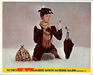 a93b0cf5ff MARY POPPINS ORIGINAL BRITISH LOBBY CARD JULIE ANDREWS PORTRAIT WALT ...