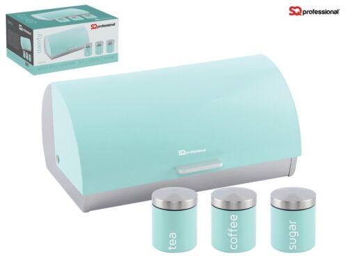Recipiente de almacenamiento metálico Té Café Azúcar Recipiente de estaño Jar Pot /& Panera Set