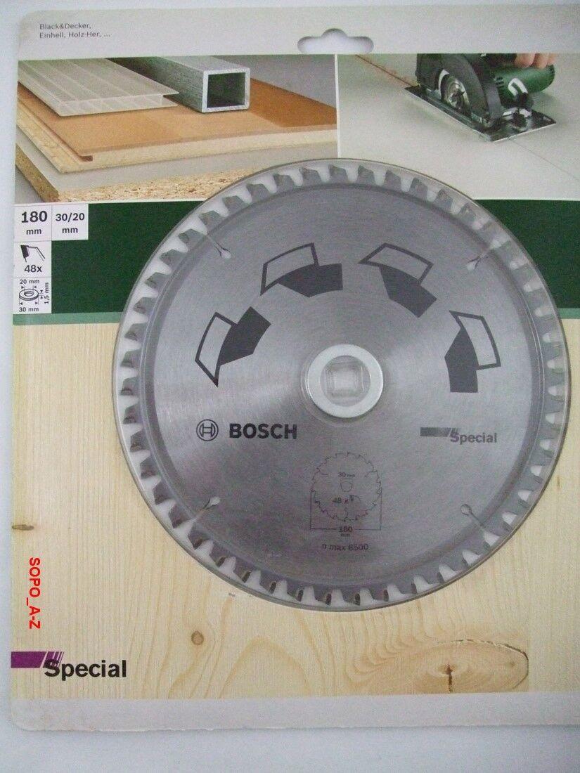 Kreissägeblatt HM 180x 30 20 Special Bosch 48 Zähne Sägeblatt