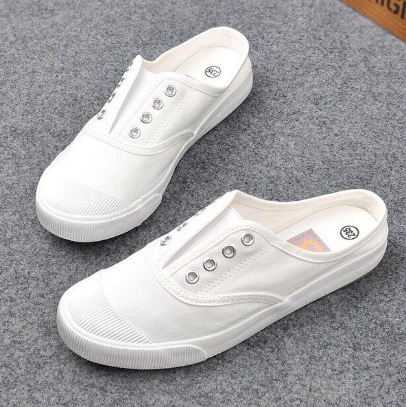 New Womens Oxfords Flats Flats Oxfords Heels Slingbacks Slip On Canvas Casual Shoes Casual SZ 5389a4