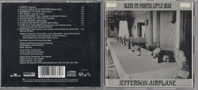Jefferson Airplane Bless Its Pointed Little Head CD Save £s for sale online  | eBay