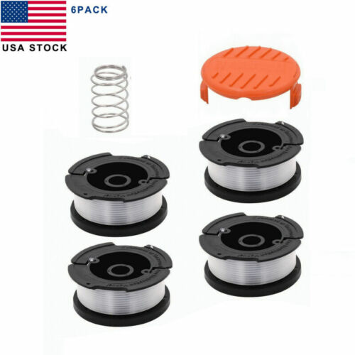 """Black /& Decker AF-100 30ft .0065/"""" Grass Trimmer Replacement Spool Line+Cap Cover"""