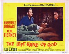THE LEFT HAND OF GOD original 1955 lobby card HUMPHREY BOGART 11x14 movie poster