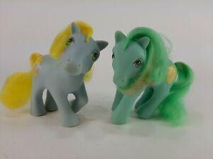 1980s My Little Pony G1 Vintage Mirror Mirror & Cuddles Magic Message Ponies Lot