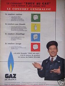 PUBLICITE-1958-GAZ-DE-FRANCE-LE-CONFORT-GENERALISE-ADVERTISING
