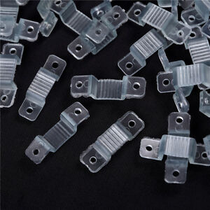 100pcs-10mm-LED-fixation-silicone-clips-de-montage-LED-de-bande-de-lumiere-I