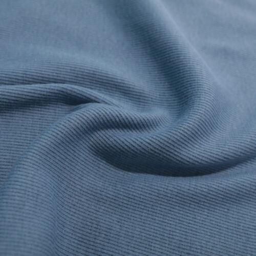 50cm Bündchenstoff Schlauchware Jersey Baumwolle Bekleidungs Stoff Baby Blau