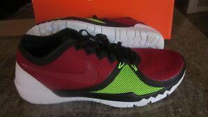NEW-Nike-Free-Trainer-3-0-V4-Training-Shoes-Black-Red-Volt-Sz-10-5