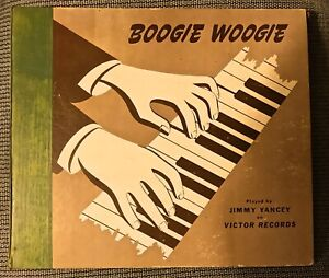 JIMMY-YANCEY-Boogie-Woogie-Blues-RARE-E-E-1940-Victor-3-record-Set-P-25