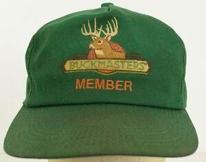Image is loading Buckmasters-Member-Deer -Hunting-Green-embroidered-adjustable-baseball- d03223330